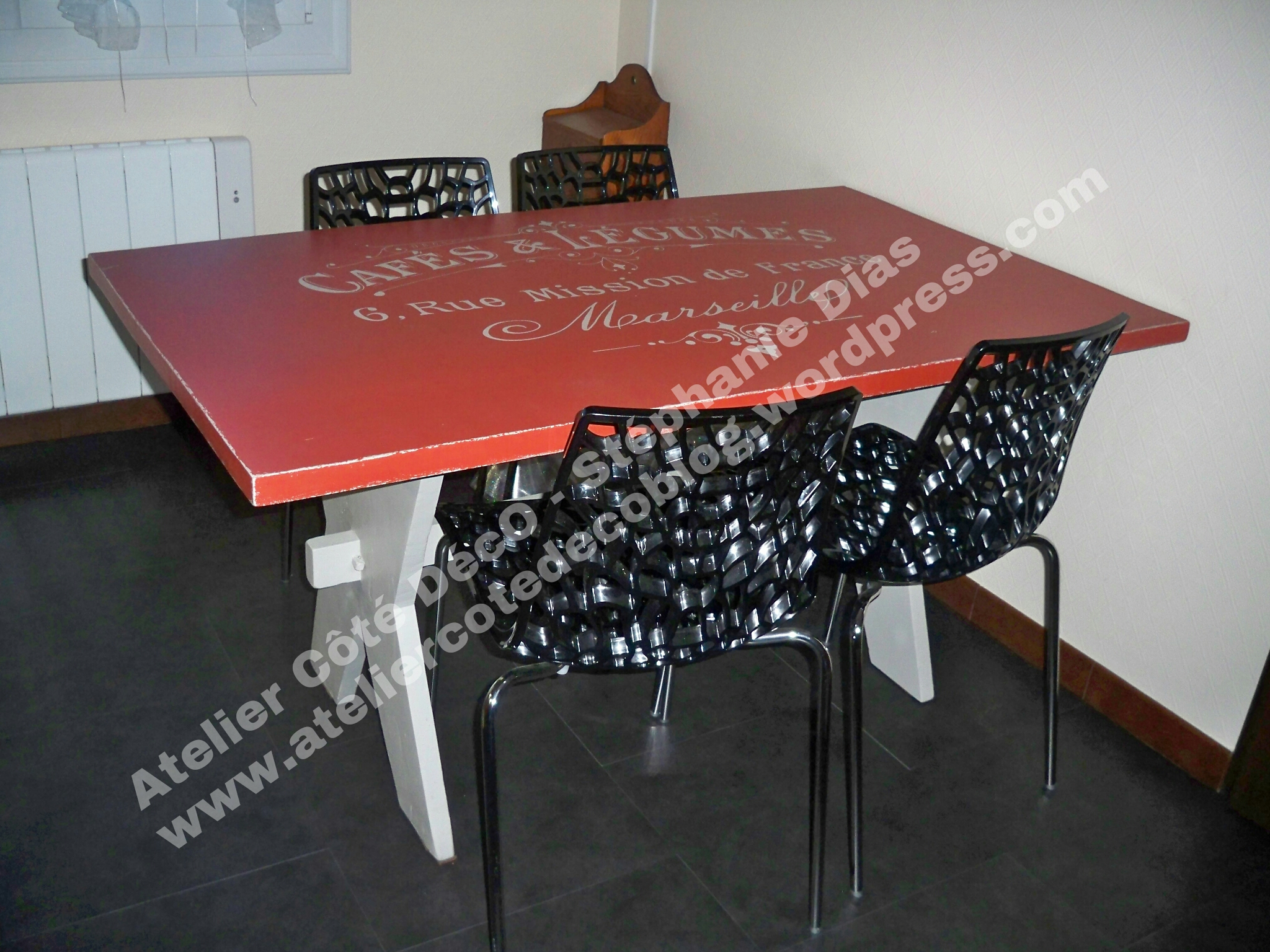 Avant apres atelier c t d co page 3 - Table de cuisine rouge ...
